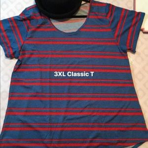 LuLaRoe 3XL Classic Tee, Blue and Red. New